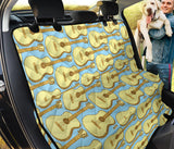 Acoustic Guitar Pattern Print Design 03 Rear Dog Car Seat Cover Hammock