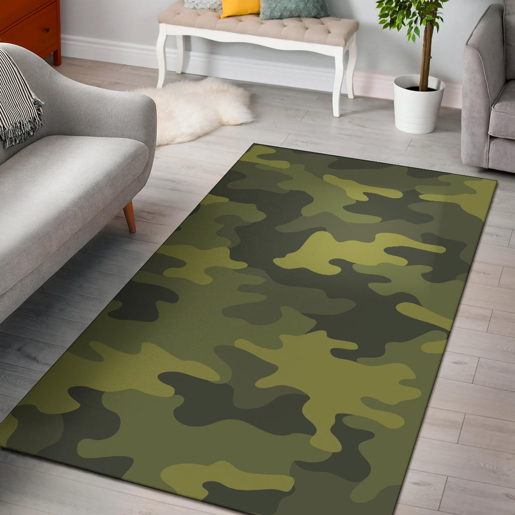 Military Camouflage Pattern Print Design 02 Area Rug