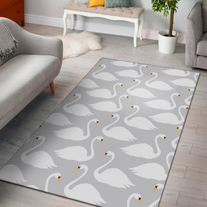 Swan Pattern Print Design 02 Area Rug