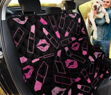 Lipstick Pink Pattern Print Design 01 Rear Dog Car Seat Cover Hammock