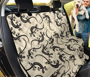 lizard Pattern Print Design 02 Rear Dog Car Seat Cover Hammock