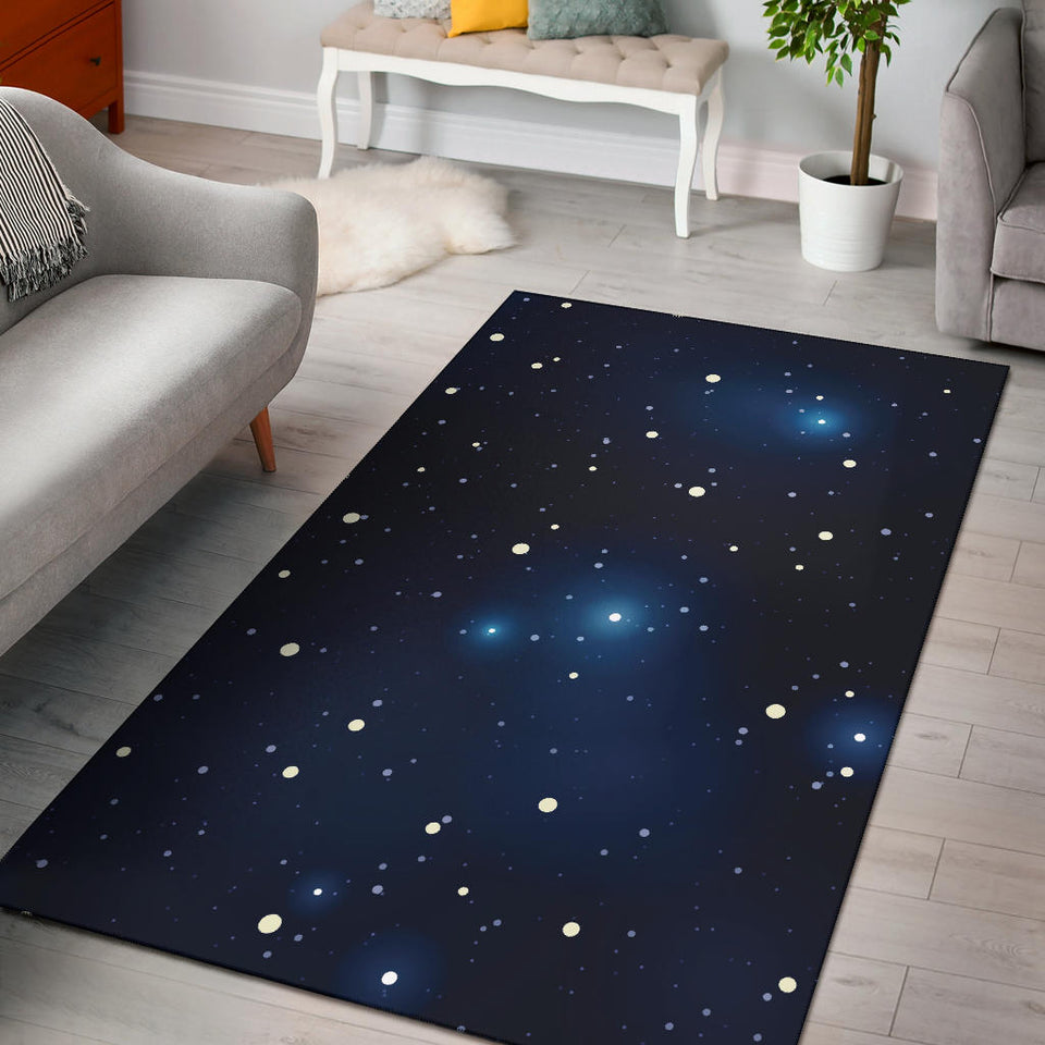 Night sky Pattern Print Design A02 Area Rug