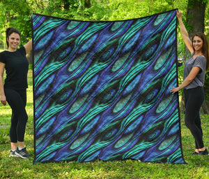 Abalone Pattern Print Design 03 Quilt Bedspread