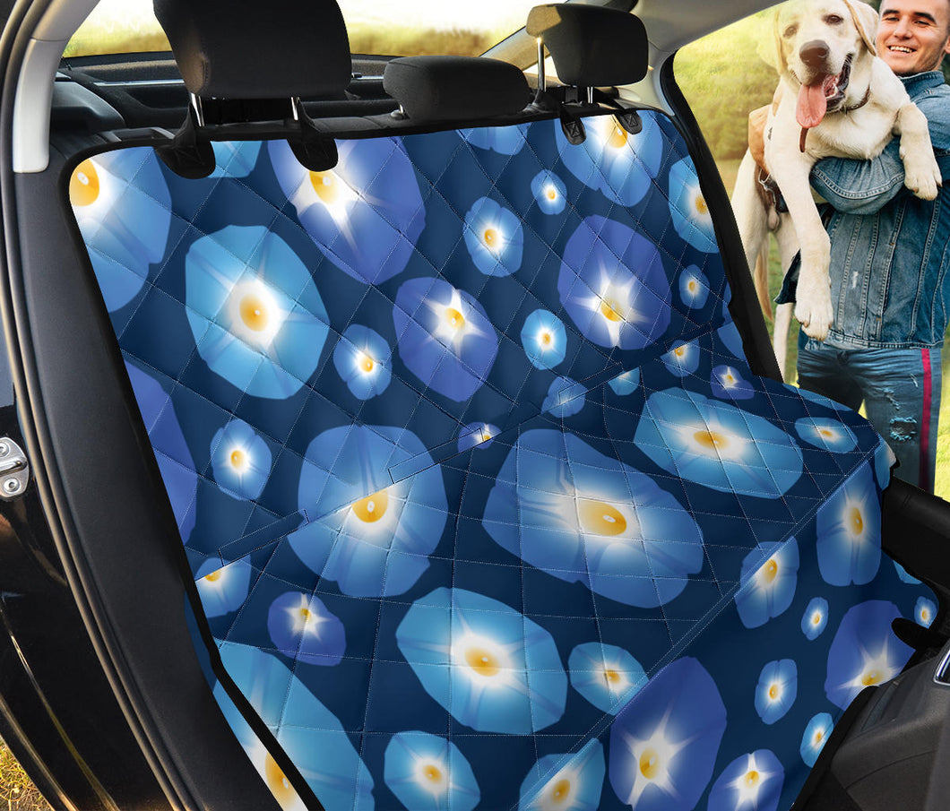 Morning Glory Pattern Print Design 02 Rear Dog Car Seat Cover Hammock