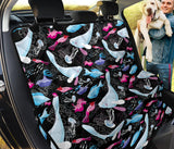 Manatee Pattern Print Design 02 Rear Dog Car Seat Cover Hammock