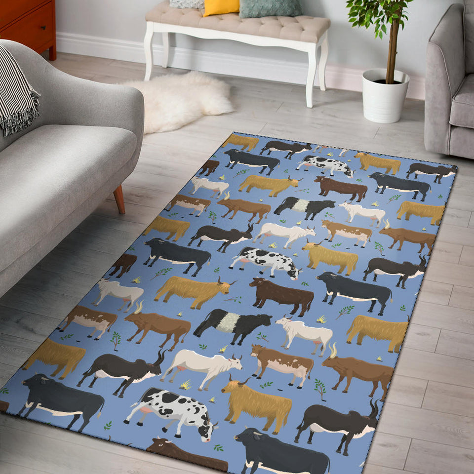 Cattle Pattern Print Design 02 Area Rug