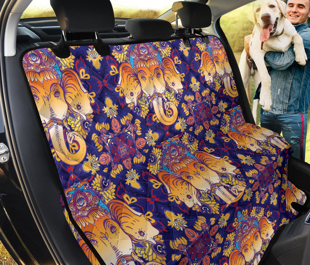 Ganesha Pattern Print Design 01 Rear Dog Car Seat Cover Hammock