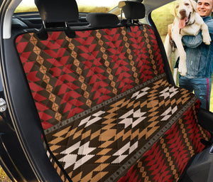 Native Pattern Print Design A02 Rear Dog Car Seat Cover Hammock