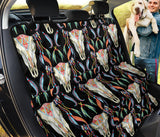 Buffalo Head Boho Style Pattern Print Design 01 Rear Dog Car Seat Cover Hammock