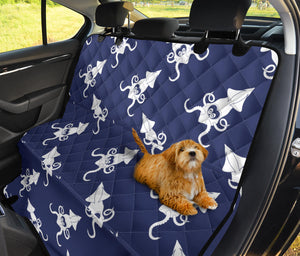 Giant Squid Pattern Print Design 02 Rear Dog Car Seat Cover Hammock