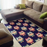 Owl Pattern Print Design A06 Area Rug