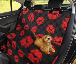 Lip Red Pattern Print Design 02 Rear Dog Car Seat Cover Hammock