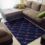 Electric Guitar Pattern Print Design 01 Area Rug