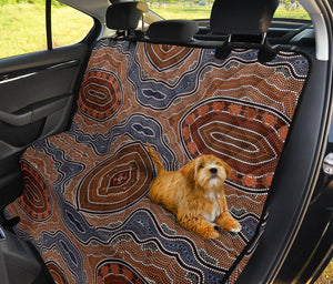 Aboriginal Pattern Print Design 01 Rear Dog Car Seat Cover Hammock