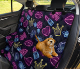 Lipstick Neon Pattern Print Design 02 Rear Dog Car Seat Cover Hammock