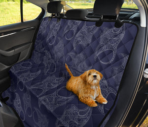 Manta Ray Pattern Print Design 01 Rear Dog Car Seat Cover Hammock