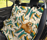Kingfisher Pattern Print Design 02 Rear Dog Car Seat Cover Hammock