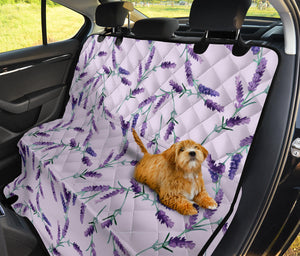 Lavender Pattern Print Design 02 Rear Dog Car Seat Cover Hammock