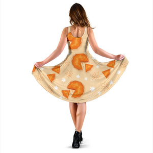 Pie Pattern Print Design A01 Sleeveless Mini Dress
