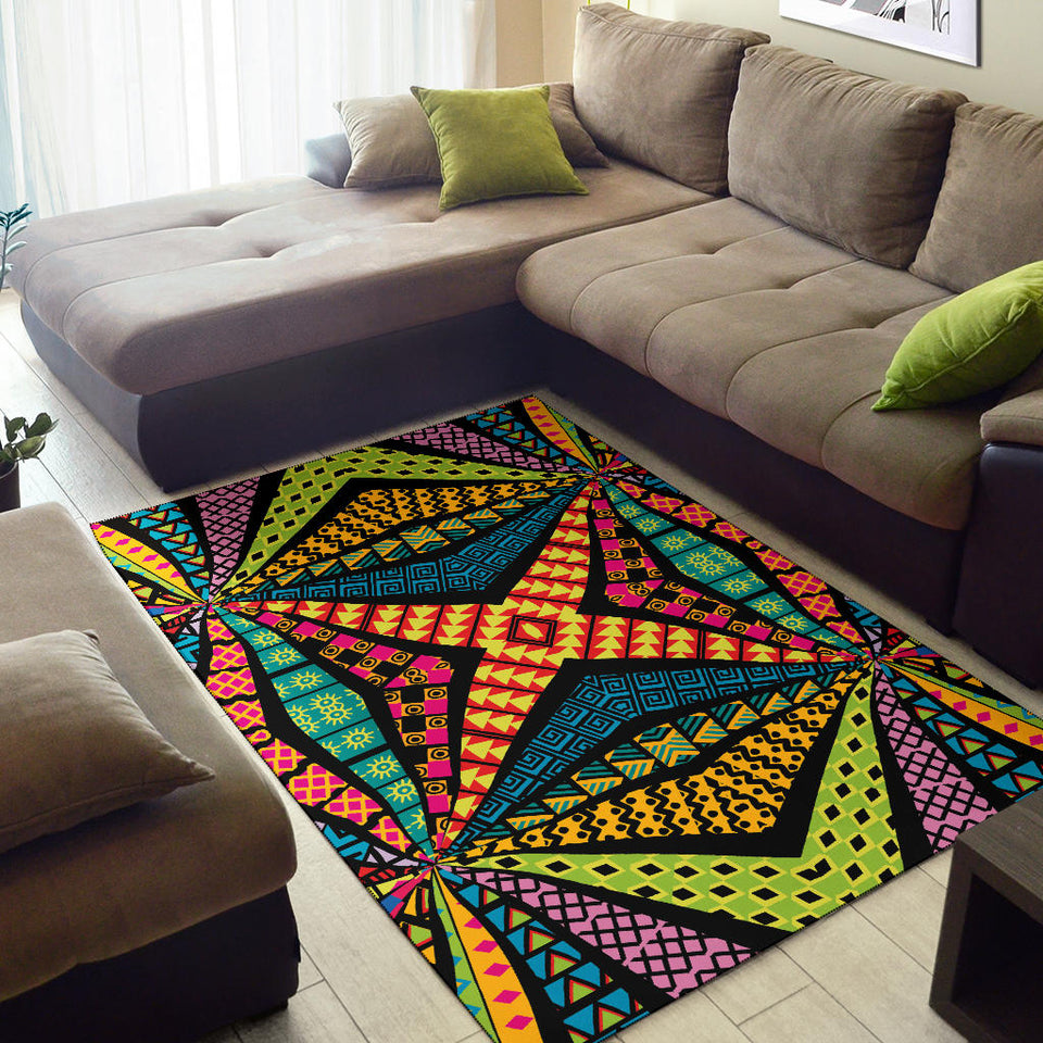 Kaleidoscope Pattern Print Design 05 Area Rug