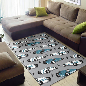 Racing Vintage Pattern Print Design A02 Area Rug