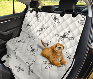 Kayak Pattern Print Design 01 Rear Dog Car Seat Cover Hammock