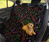 Cello Neon Pattern Print Design 02 Rear Dog Car Seat Cover Hammock