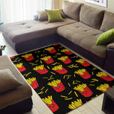 French Fried Pattern Print Design 03 Area Rug