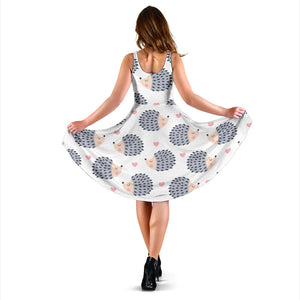 Hedgehog Baby Pattern Print Design 03 Sleeveless Mini Dress