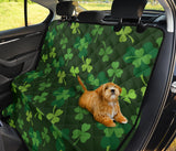 Irish Pattern Print Design 03 Rear Dog Car Seat Cover Hammock