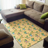 Beach Themed Pattern Print Design 01 Area Rug