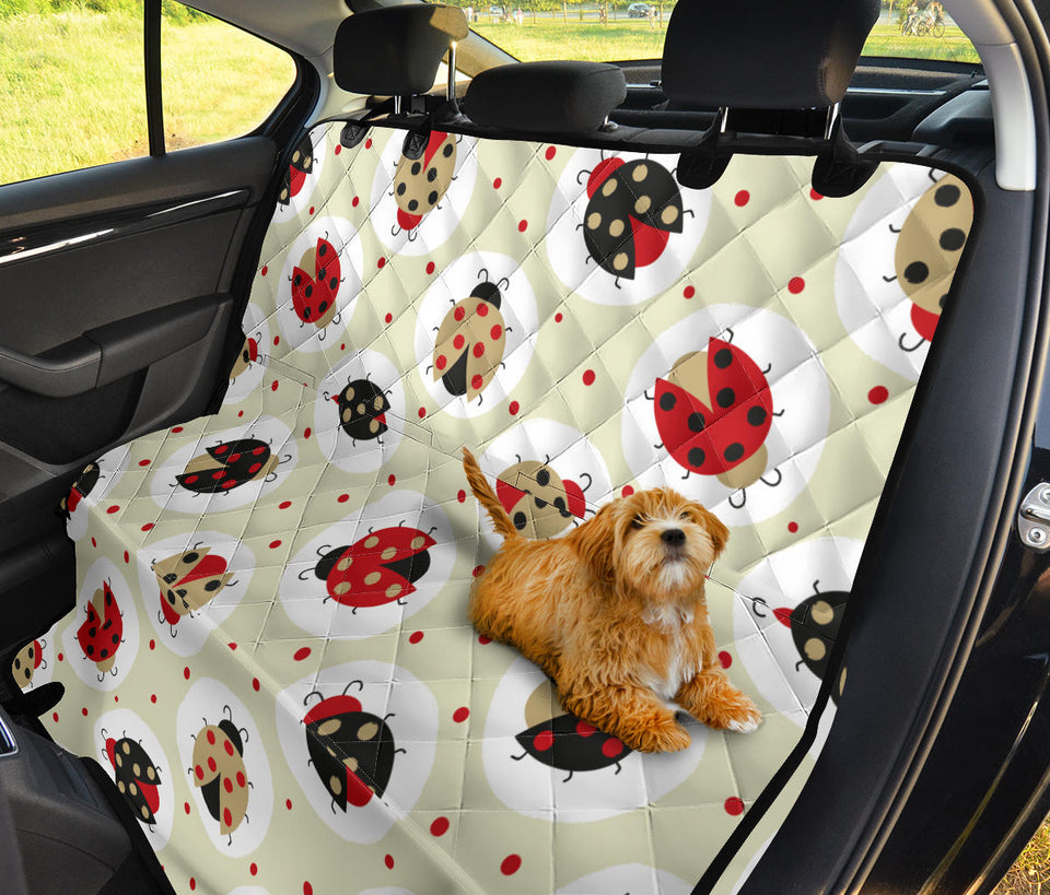 Ladybug Pattern Print Design 03 Rear Dog Car Seat Cover Hammock