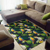 Parrot Pattern Print Design A03 Area Rug