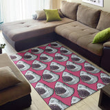 Great White Shark Pattern Print Design 01 Area Rug
