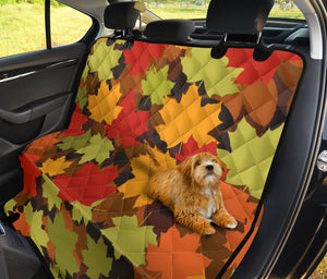 Maple Leaf Pattern Print Design 05 Rear Dog Car Seat Cover Hammock
