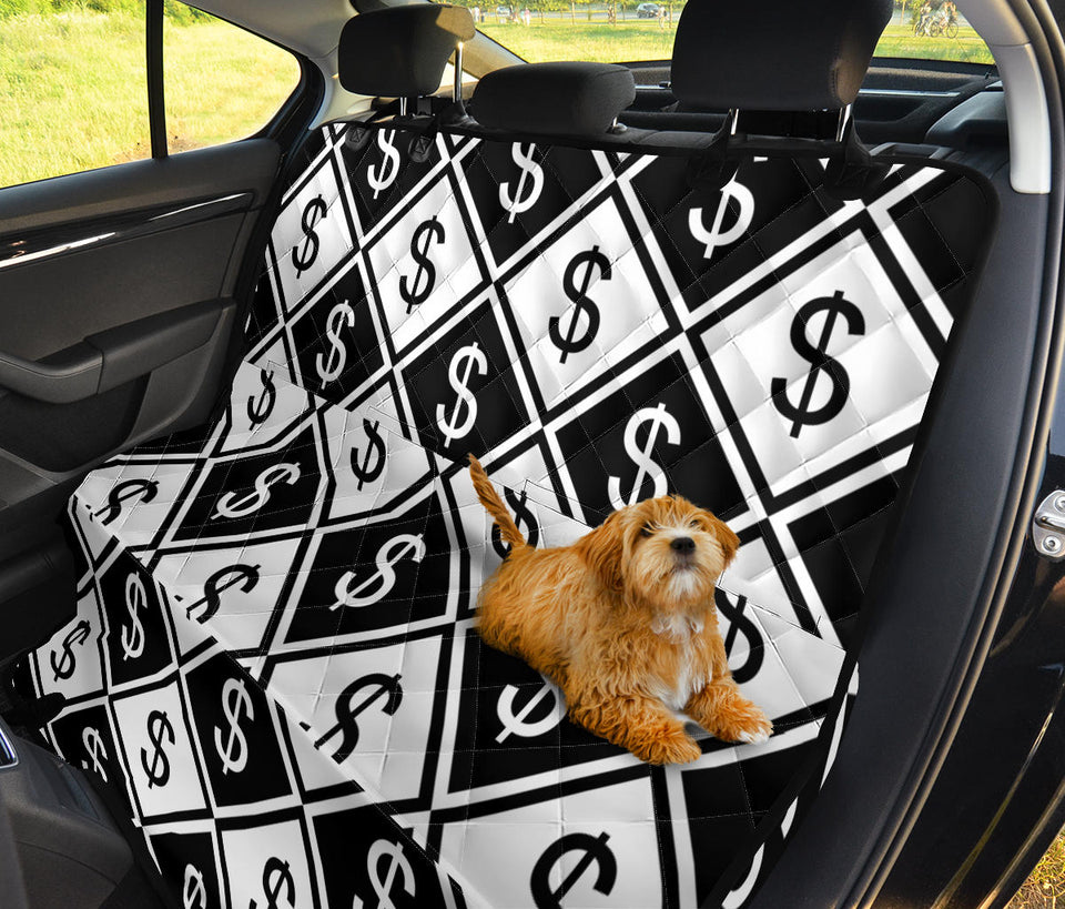 Money Pattern Print Design 04 Rear Dog Car Seat Cover Hammock