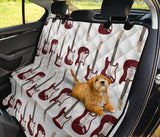 Bass Guitar Pattern Print Design 03 Rear Dog Car Seat Cover Hammock