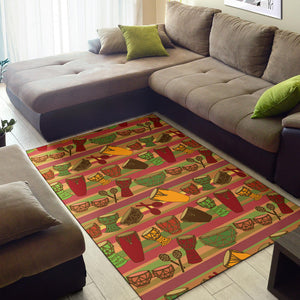 Percussion Pattern Print Design 01 Area Rug