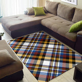 Madras Pattern Print Design 01 Area Rug