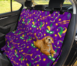 Mardi Gras Pattern Print Design 06 Rear Dog Car Seat Cover Hammock