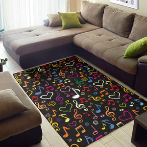 Music note Pattern Print Design A01 Area Rug