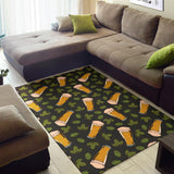 Beer Iris Pattern Print Design 02 Area Rug