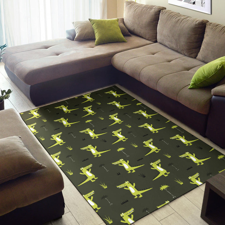 Alligator Pattern Print Design 05 Area Rug