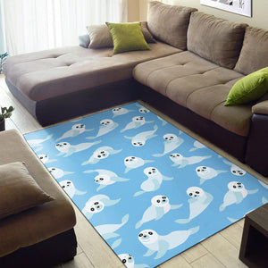 Sea Lion Cute Pattern Print Design 03 Area Rug