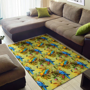 Parrot Pattern Print Design A02 Area Rug