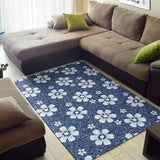 Jean Flower Pattern Print Design 03 Area Rug