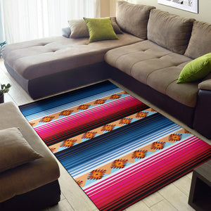 Mexican Pattern Print Design 03 Area Rug