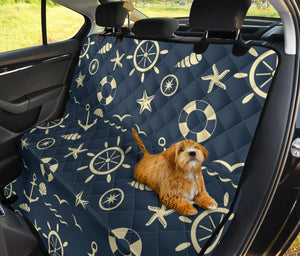 Nautical Pattern Print Design A01 Rear Dog Car Seat Cover Hammock