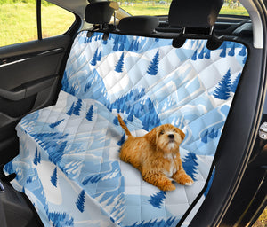 Mountain Pattern Print Design 03 Rear Dog Car Seat Cover Hammock