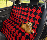 Houndstooth Red Pattern Print Design 03 Rear Dog Car Seat Cover Hammock
